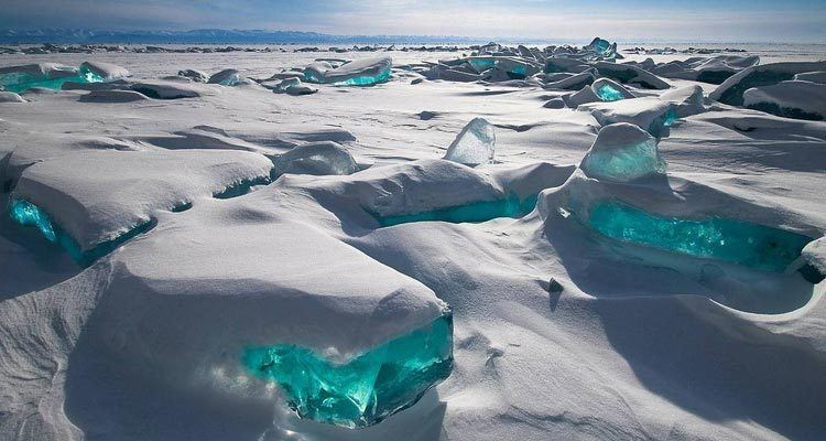 El lago baikal Rusia