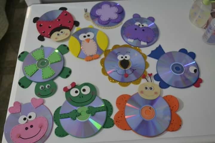 ideas para decorar con cd