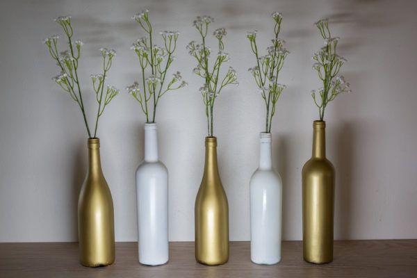 botellas de vidrio para decorar