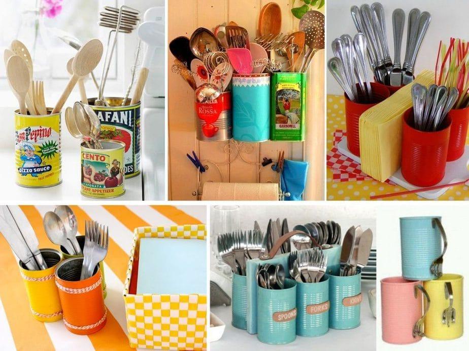 ideas para usar latas en la cocina
