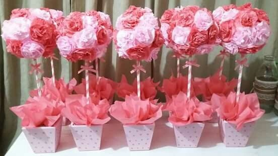 Flores con papel de seda