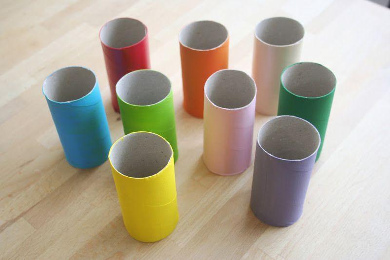 Didácticas manualidades infantiles con rollos de papel higiénico!
