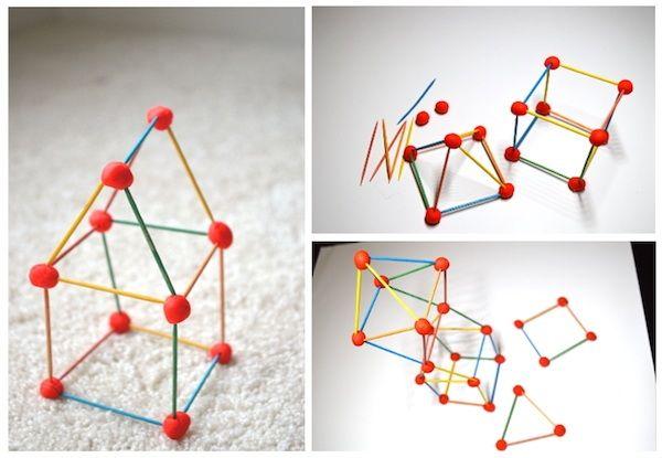 figuras 3D con plastilina