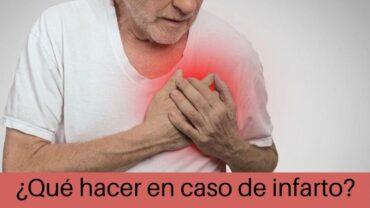 ¿Qué hacer en caso de infarto?