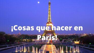 cosas que hacer en Paris