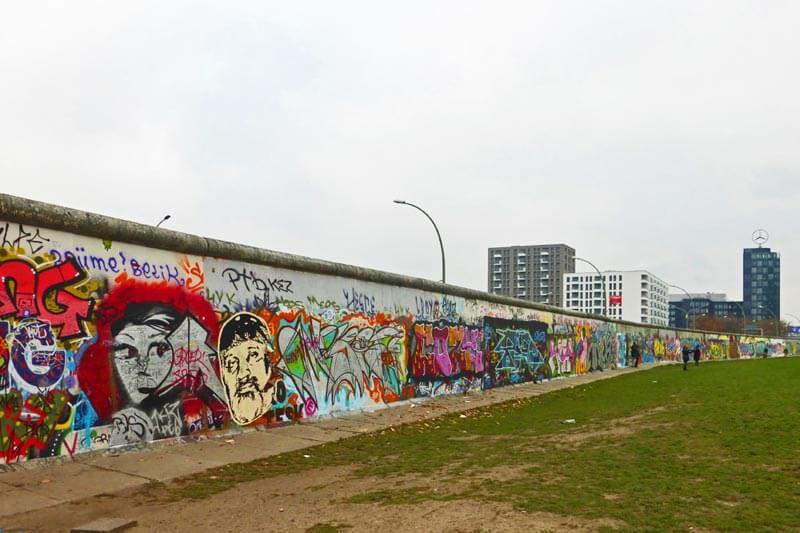 El antiguo muro de Berlín