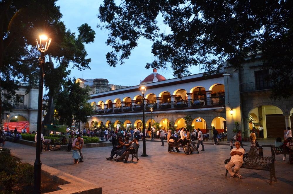 plaza del Zócalo en Oaxaca