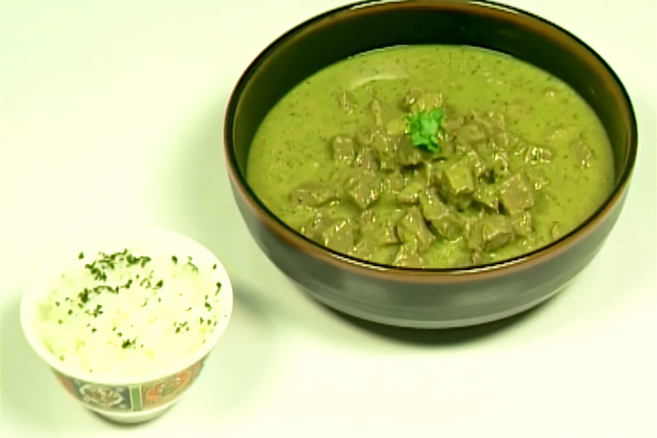 El curry verde tailandés